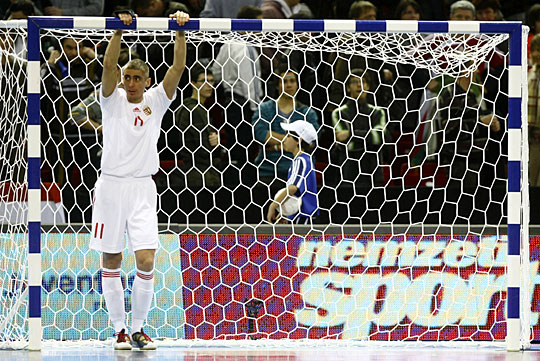 A lefújás után döbbenet ült ki a magyar játékosok arcára (Fotó: Szabó Miklós)