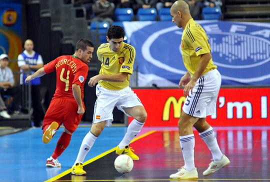 A sárga mezes spanyolokkal a portugál csapat sem tudott mit kezdeni (Fotó: MLSZ)