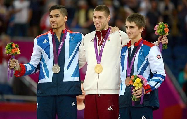 London 2012 Olimpia lólengés bajnoka és érmesei - Berki, Smith, Whitlock