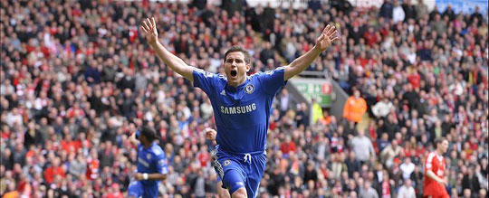 Frank Lampard és a Chelsea célegyenesben (Fotó: Reuters)