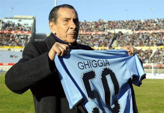 Alcides Ghiggia, a brazilölő (Fotó: Action Images)