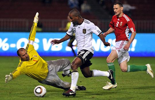 A német válogatottnak ujjgyakorlat volt a magyarok elleni győzelem (fotó: Mirkó István)