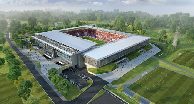 A felújítás előtt álló Sóstói Stadion látványterve (Forrás  vidi.hu) 3fd48654f6