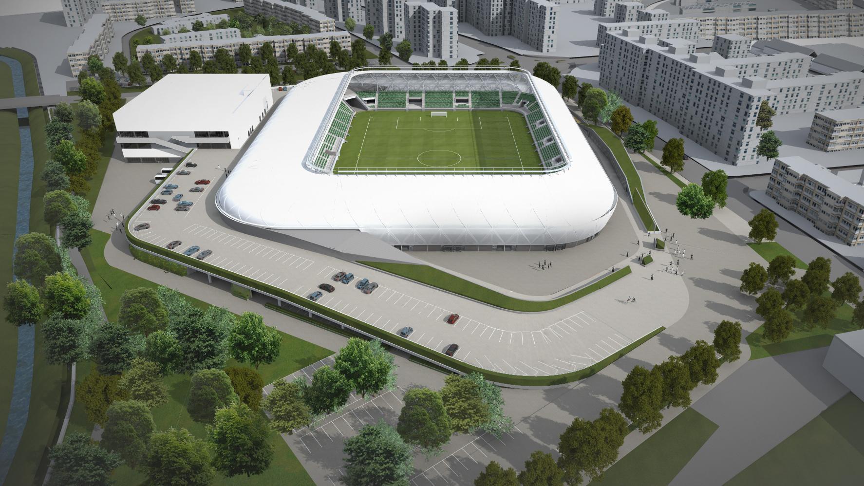 Haladás  megvannak a stadion módosított látványtervei – KÉPEK! - NS 1a56661fa9