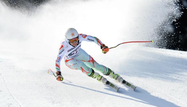 Alpesis�-vk: Mikl�s Edit Garmischban is az els� t�zben
