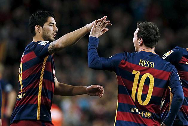 La Liga: Su�rez tripl�zott, a Barca zseni�lis g�lokat l�tt