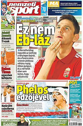 NS: Gera – ez nem Eb-láz; Bohus és Phelps edzője – péntek