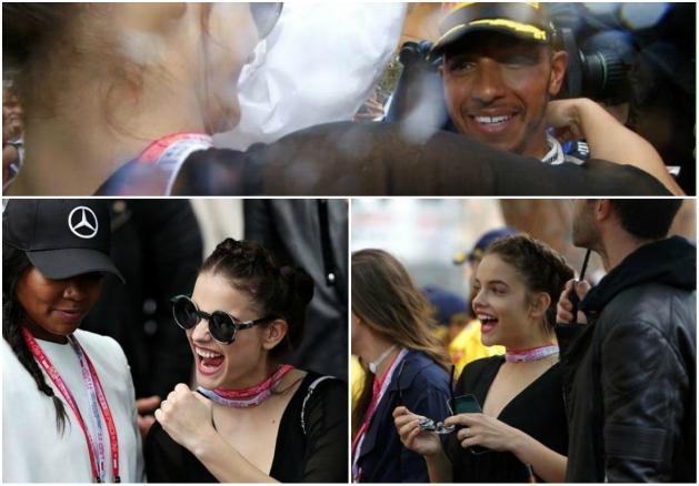 F1: Palvin Barbi + m�zli = Hamilton-siker; egy mondat t�rte �ssze a sz�v�nket...