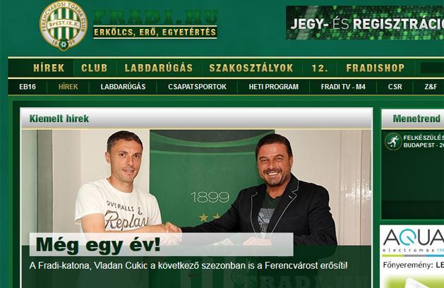 Ferencváros: Vladan Csukics újabb egy évre aláírt – hivatalos