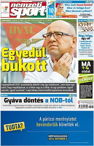 NS: A magyarok részletes riói programja; Vignjevics az újpesti jövőről – kedd