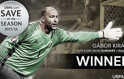 UEFA: Királyé az év legnagyobb európai védése – hivatalos