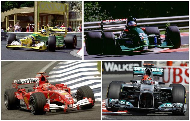 K�pek: tekintse meg Schumacher �sszes F1-es aut�j�t!