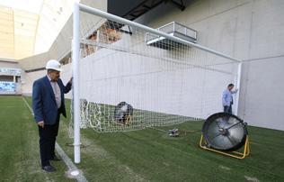 MTK: ez�rt �p�lt betonfal a Hidegkuti N�ndor Stadionban