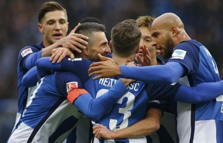 Izgalmas hajr� ut�n, nem kis szerencs�vel nyert a Hertha
