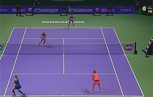 WTA-vb: meccslabd�kat rontva, hatalmas csat�ban b�cs�ztak Babos�k