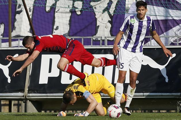 Az újpestiek legutóbb az előző idény végén, a Videoton ellen játszottak bajnokit a Szusza-stadionban (Fotó: Szabó Miklós)