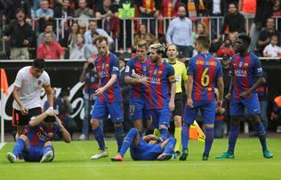 La Liga: a Barca fegyelmit kezdem�nyezett a ligaeln�k ellen