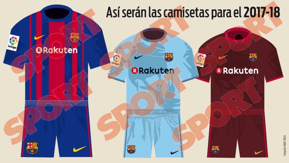 A katalán Sport szerint ezek az új mezek (Fotó: sport.es)