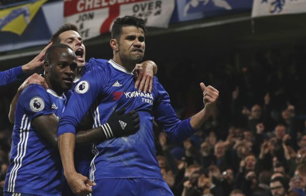 Diego Costa góllal tért vissza a Chelsea-be (Fotó: AFP)
