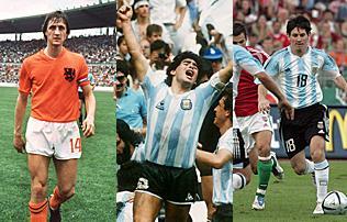 Cruyff, Maradona, Messi és a többiek – magyarok ellen debütáló legendák
