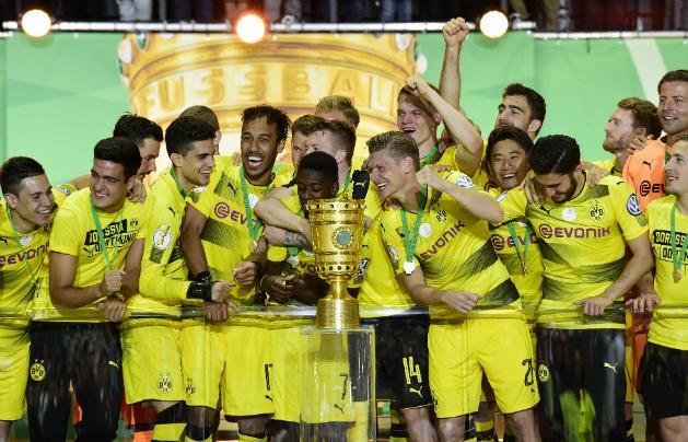A Borussia Dortmund nyerte meg a Német Kupa 2016–2017-es kiírását (Fotó: AFP)