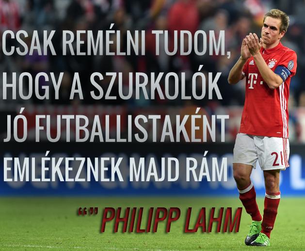 Philipp Lahm a futballtörténelem egyik legkarizmatikusabb védője volt (Fotó: NSO)