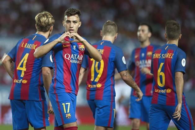 Úgy tűnik, Munir El Haddadira (17) az edzőváltás után sem tartanak igényt Barcelonában (Fotó: AFP)