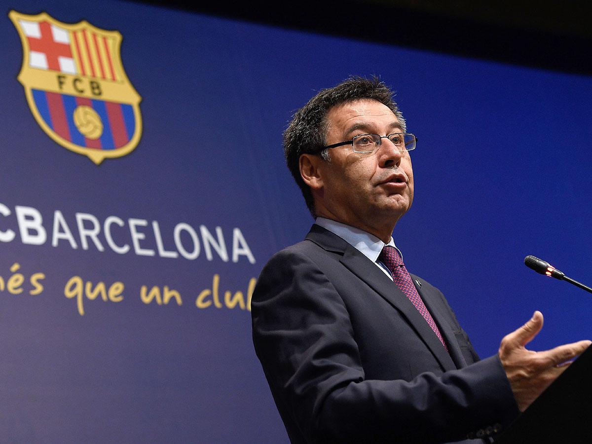 Josep Bartomeu egy korábbi sajtótájékoztatón (Fotó? AFP)