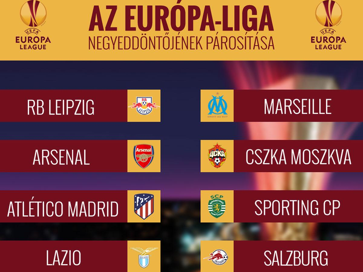 Elkészítették az Európa-liga negyeddöntőjének párosításait!