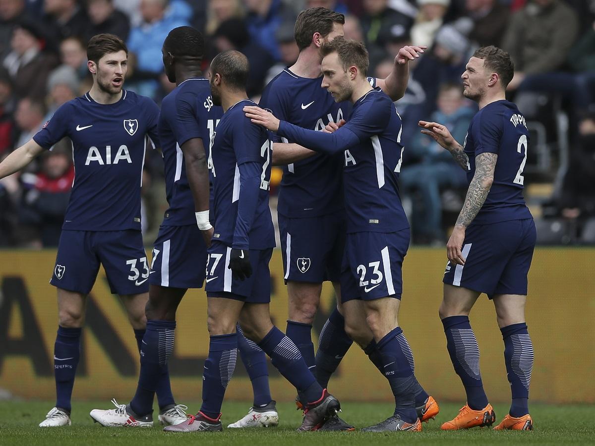 A Spurs-játékosok háromszor örülhettek a Swansea ellen (Fotó: AFP)