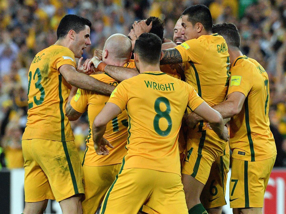 Az ausztrál labdarúgó-válogatott június 9-én Magyarország ellen lép pályára (Fotó: AFP)