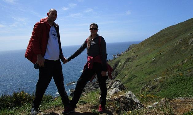 Rédei István és párja, Szilvia sokat kirándult Normandiában