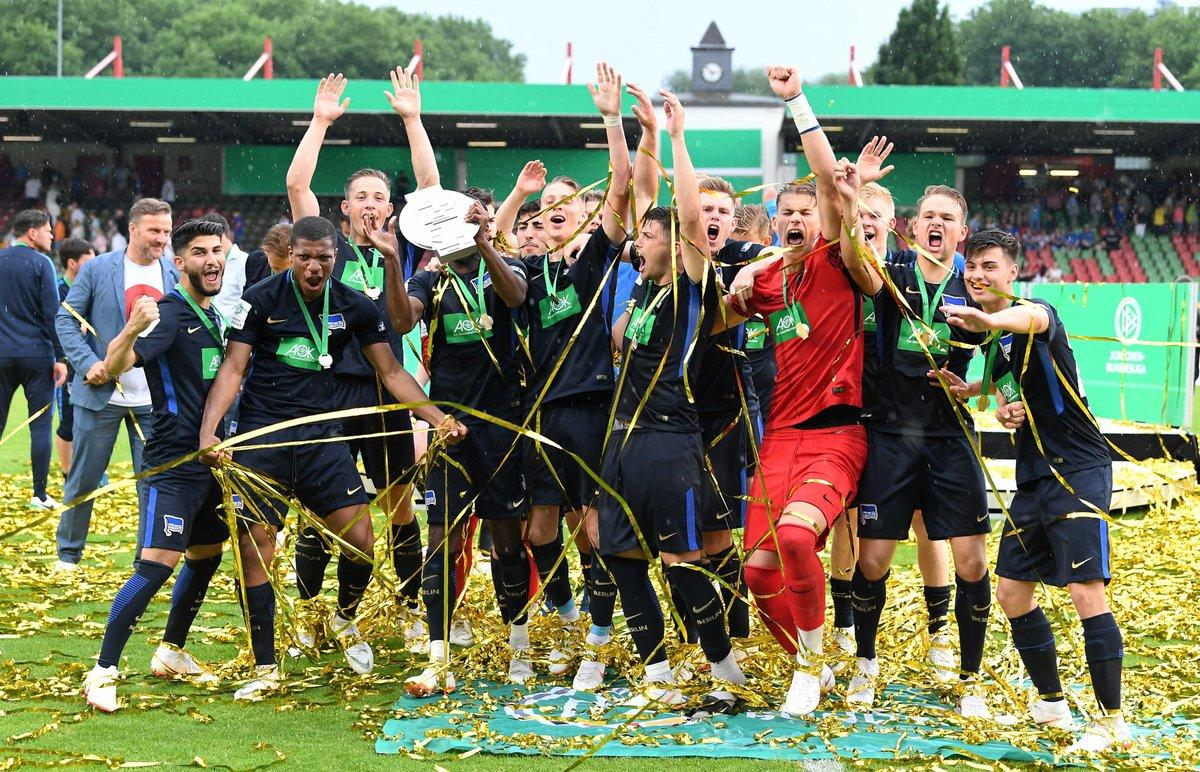 Először lett német bajnok a Hertha U19-es csapata (Fotó: Twitter)