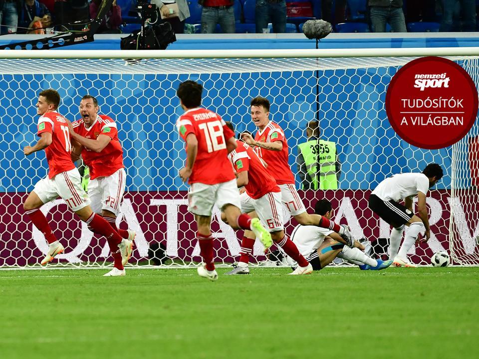 Az oroszok a második meccsüket is simán megnyerték – GALÉRIÁNK  MEGTEKINTÉSÉHEZ KATTINTSON A KÉPRE! (Fotó  AFP) 61bed3953b