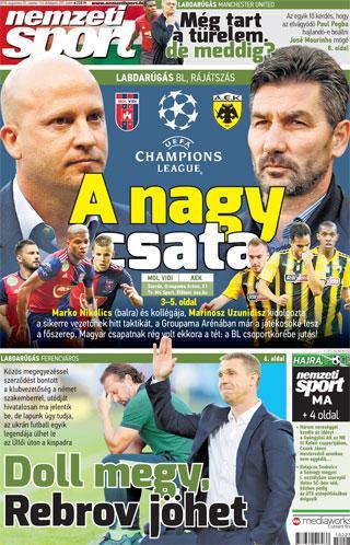 Az év legfontosabb magyar klubmérkőzése következik szerda este  az Üllői  úton az AEK Athént fogadja a Mol Vidi FC e70b3bfc2f