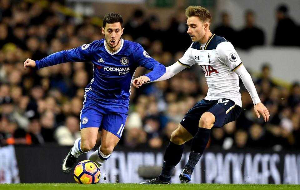 Ki nyeri ezt a párharcot madridi szempontból  Eden Hazard (balra) vagy  Christian Eriksen  Az ügynökök és a játékosok mindenképpen jól járnak...  (Fotó  AFP) f93ea07bcd