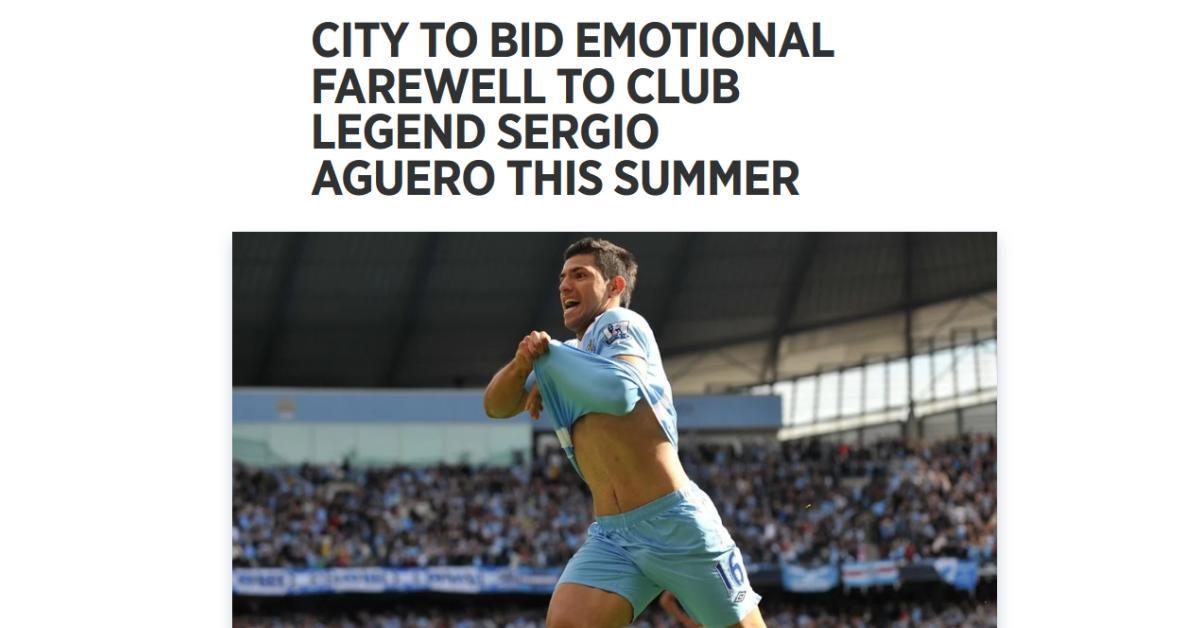 Manchester City: Sergio Agüero az idény végén távozik – hivatalos