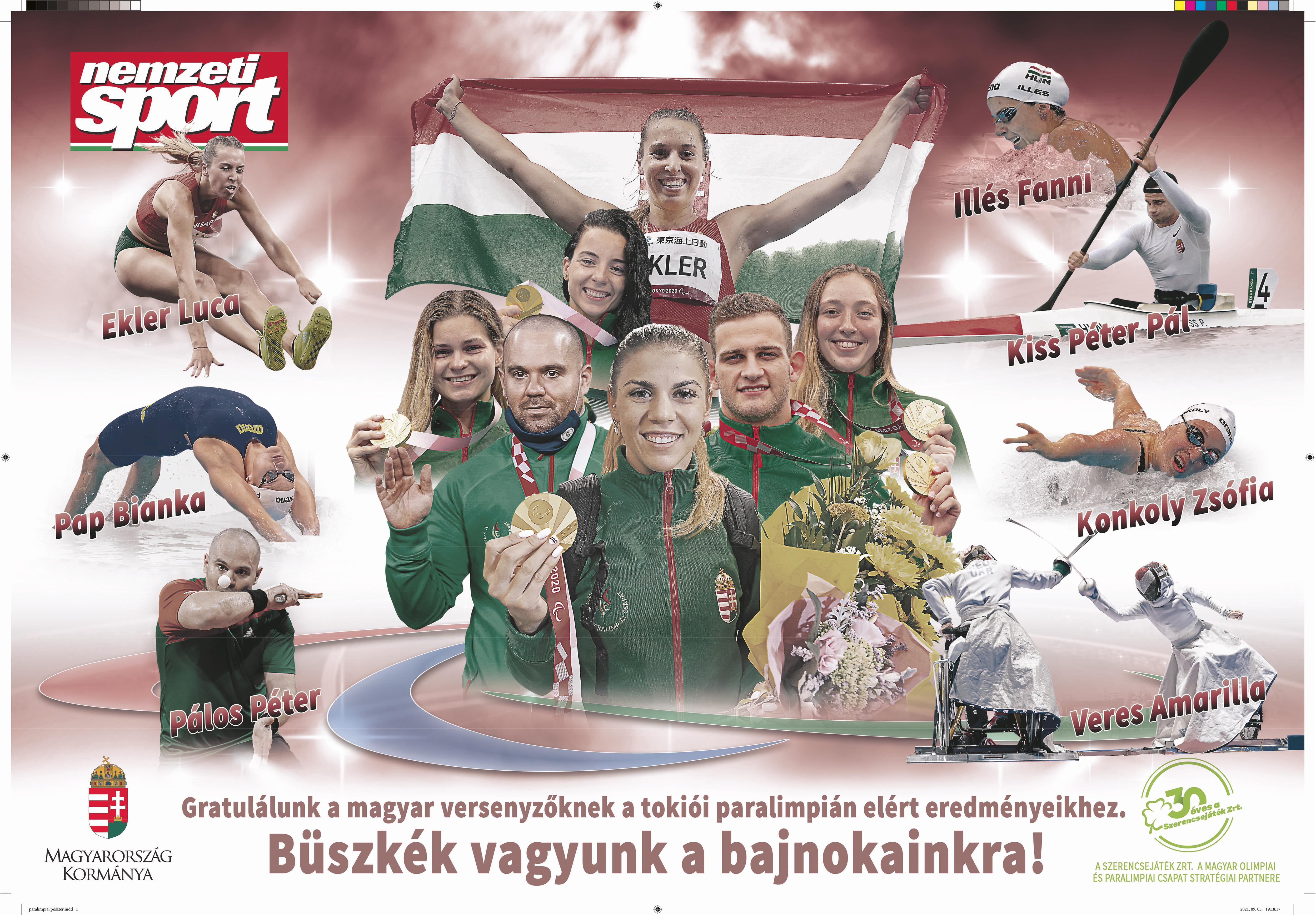 NS: poszteren a tokiói paralimpia magyar hősei