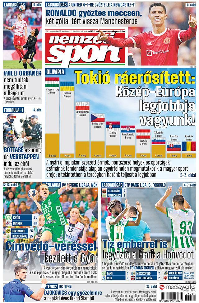 Tokió ráerősített: Közép-Európa legjobbja vagyunk!; Medvegyev lerombolja Djokovics álmait?